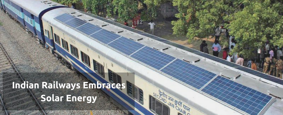The Solar Power-augmented Train Exemplifies India's Endeavor Towards Renewable Energy