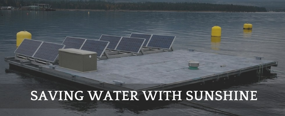 solar panel saves water