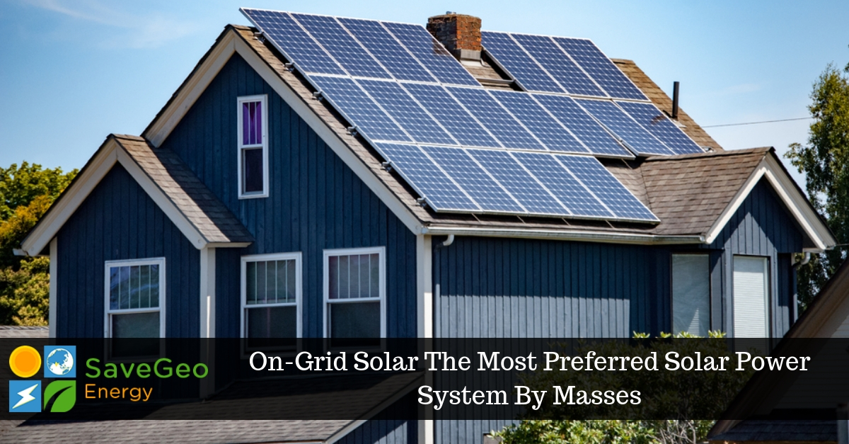 On-Grid Solar Power System Is Essential And Cost-Effective