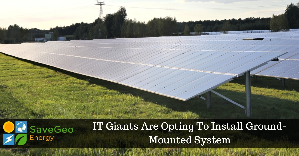 Big IT Giants Are Planning to Install Ground-Mounted Solar System