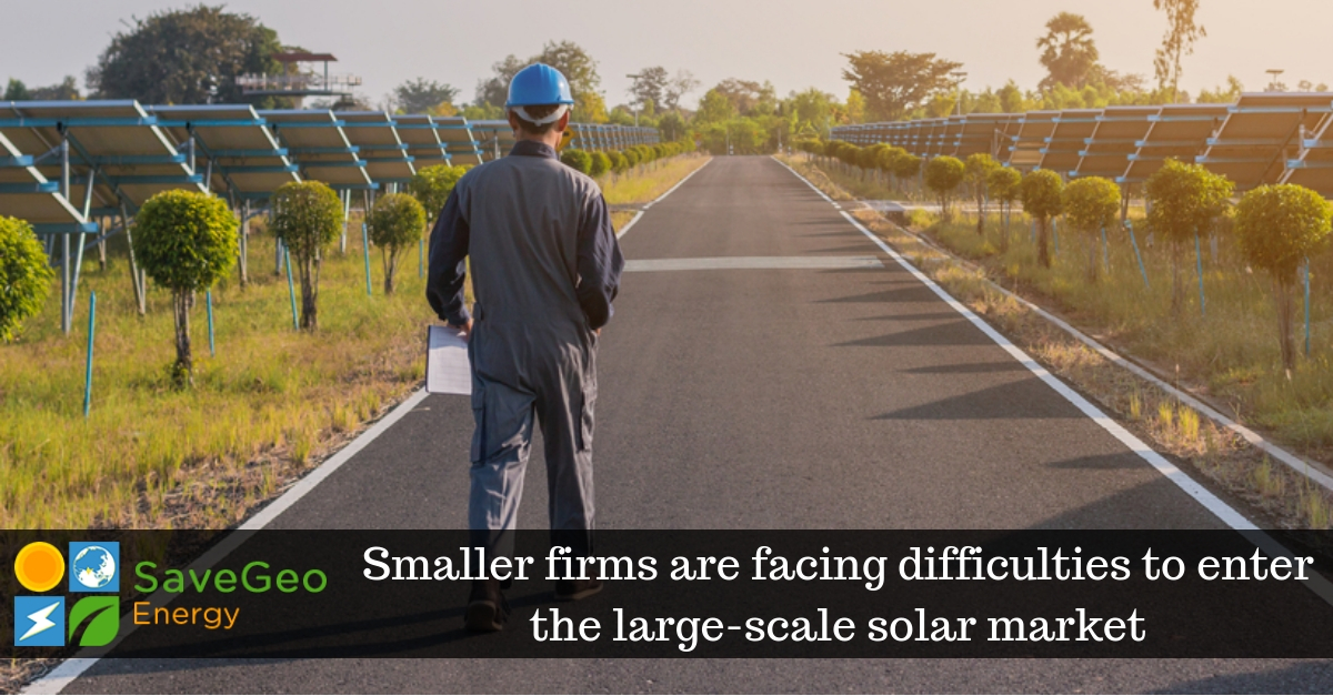 Smaller firms are facing difficulties to enter the large ...